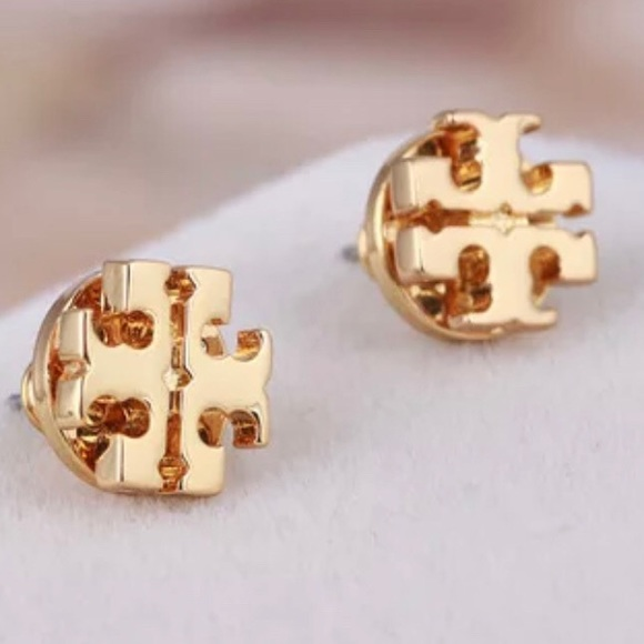 Tory Burch gold logo stud earrings